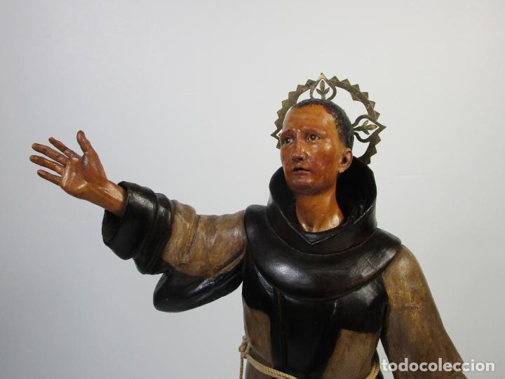 Arte: San Pascual Bailón - Talla de Madera Policromada - Cabeza Extraíble - S. XVIII-XIX - Foto 18 - 211402261