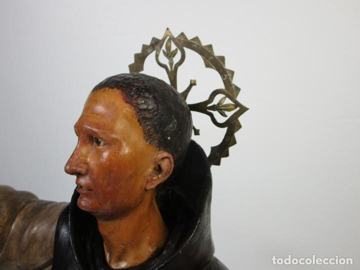 Arte: San Pascual Bailón - Talla de Madera Policromada - Cabeza Extraíble - S. XVIII-XIX - Foto 19 - 211402261