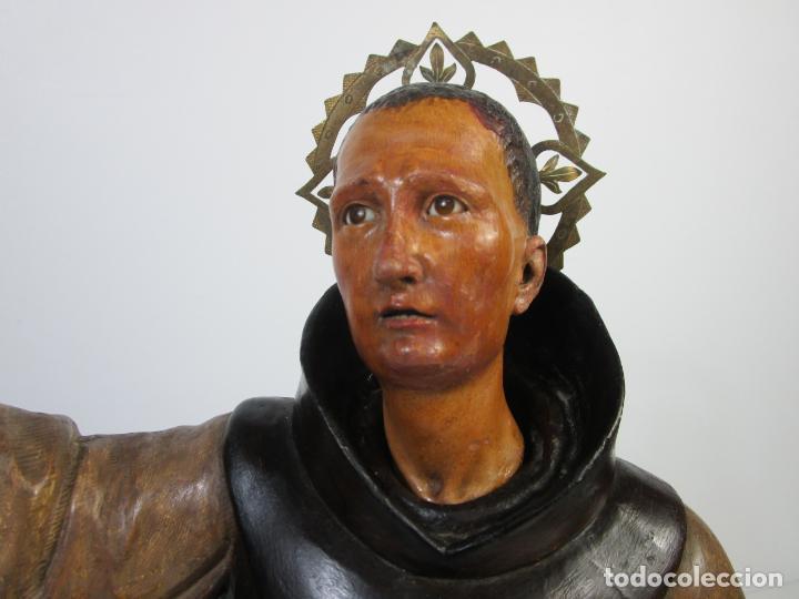 Arte: San Pascual Bailón - Talla de Madera Policromada - Cabeza Extraíble - S. XVIII-XIX - Foto 21 - 211402261