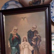 Arte: SAGRADA FAMILIA. CROMOLITOFRAFIA S. XIX. Lote 211471037