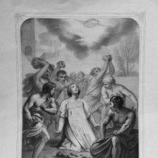 Arte: SN. ESTEVAN - SN. STEPHEN - 1850 - 1900 - EDT. L. TURGIS - 44 X 61.50 - GRABADO LITOGRAF - 34.5 X 46. Lote 211495266