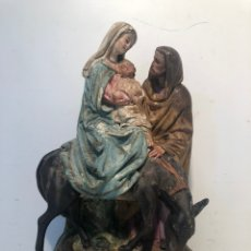 Arte: SAGRADA FAMILIA, HUIDA A EGIPTO DE ESTUCO ANTIGUA, MODELO OLOT. PARA RESTAURAR 27CM.. Lote 211643234