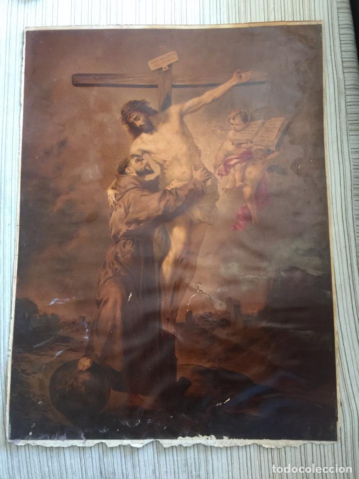 SAN FRANCISCO ABRAZANDO A CRISTO FRANCOIS MURILLO (Arte - Arte Religioso - Pintura Religiosa - Otros)