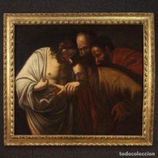 Arte: PINTURA ITALIANA ANTIGUA LA INCREDULIDAD DE SANTO TOMÁS DEL SIGLO XVII.. Lote 211884908
