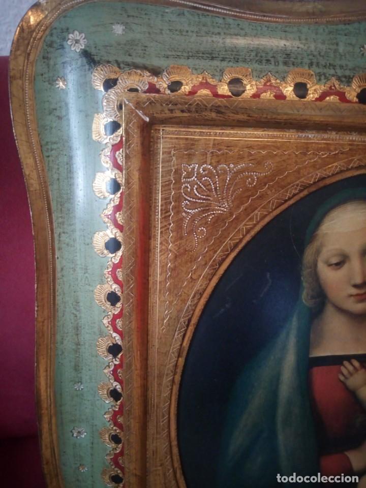 Arte: Precioso cuadro virgen con el niño,pintura sobre madera,pieza rara de ver,,siglo xix - Foto 4 - 211904971