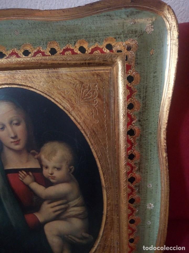 Arte: Precioso cuadro virgen con el niño,pintura sobre madera,pieza rara de ver,,siglo xix - Foto 5 - 211904971