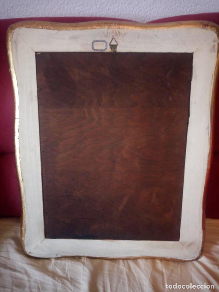 Arte: Precioso cuadro virgen con el niño,pintura sobre madera,pieza rara de ver,,siglo xix - Foto 14 - 211904971