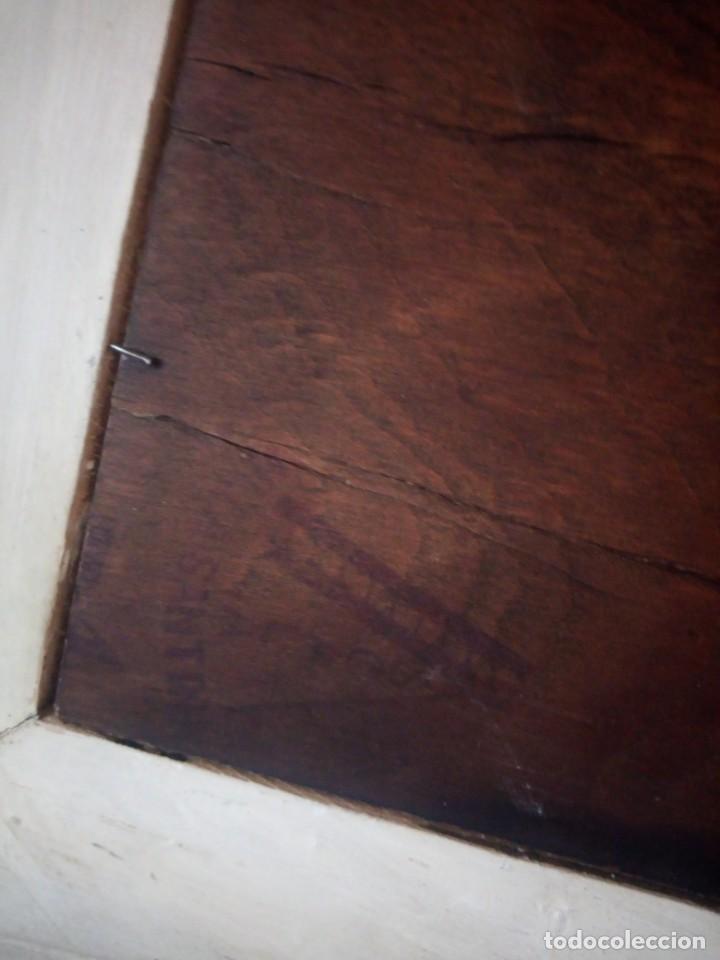 Arte: Precioso cuadro virgen con el niño,pintura sobre madera,pieza rara de ver,,siglo xix - Foto 15 - 211904971