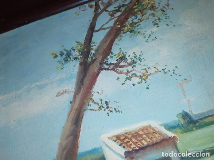 Arte: ÓLEO SOBRE LIENZO PAISAJE CAMPO BARRACAS VALENCIANAS FIRMADO GIL MARCO MAL ESTADO RESTAURAR - Foto 5 - 211915368