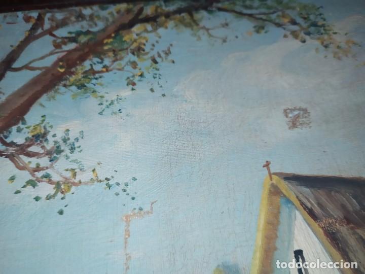 Arte: ÓLEO SOBRE LIENZO PAISAJE CAMPO BARRACAS VALENCIANAS FIRMADO GIL MARCO MAL ESTADO RESTAURAR - Foto 6 - 211915368