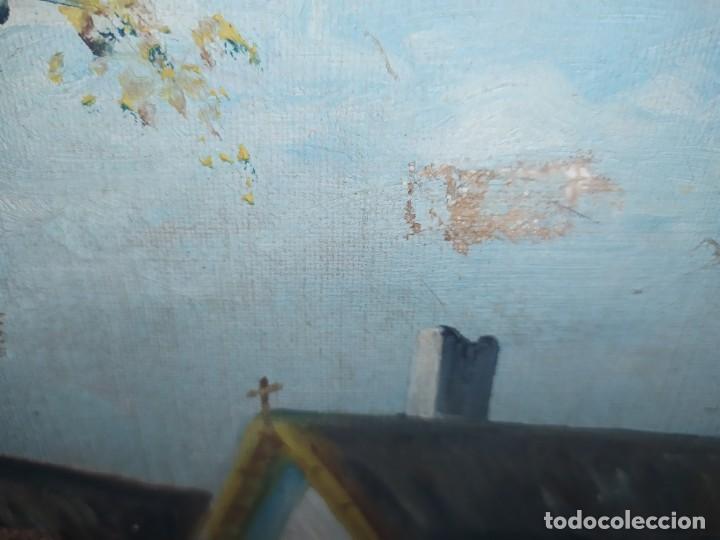 Arte: ÓLEO SOBRE LIENZO PAISAJE CAMPO BARRACAS VALENCIANAS FIRMADO GIL MARCO MAL ESTADO RESTAURAR - Foto 10 - 211915368