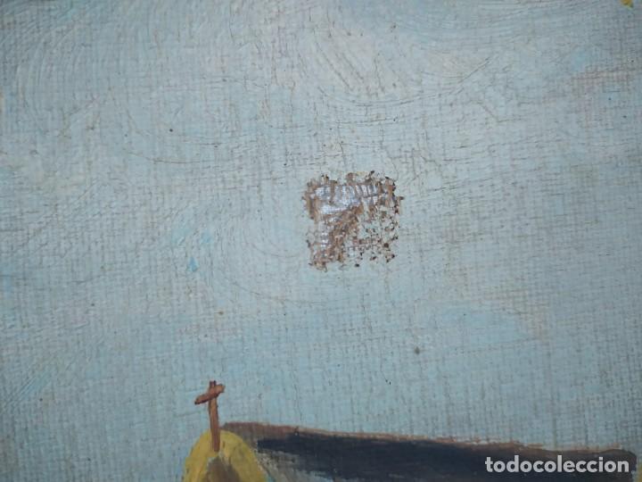 Arte: ÓLEO SOBRE LIENZO PAISAJE CAMPO BARRACAS VALENCIANAS FIRMADO GIL MARCO MAL ESTADO RESTAURAR - Foto 13 - 211915368