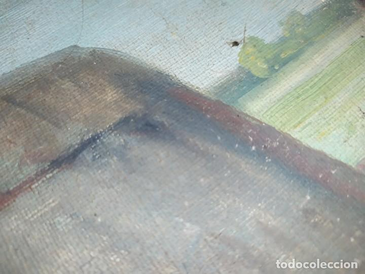 Arte: ÓLEO SOBRE LIENZO PAISAJE CAMPO BARRACAS VALENCIANAS FIRMADO GIL MARCO MAL ESTADO RESTAURAR - Foto 25 - 211915368