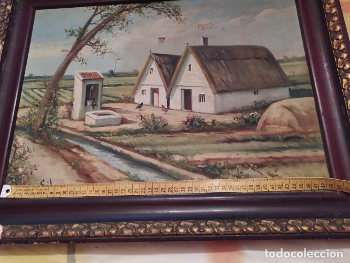 Arte: ÓLEO SOBRE LIENZO PAISAJE CAMPO BARRACAS VALENCIANAS FIRMADO GIL MARCO MAL ESTADO RESTAURAR - Foto 27 - 211915368