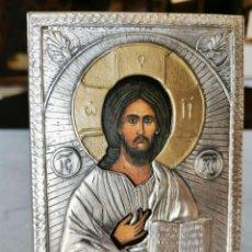 Arte: ICONO DE CRISTO, EN PLATA DE LEY PUNZONADA 925 FARCO EUROP. Lote 211977142