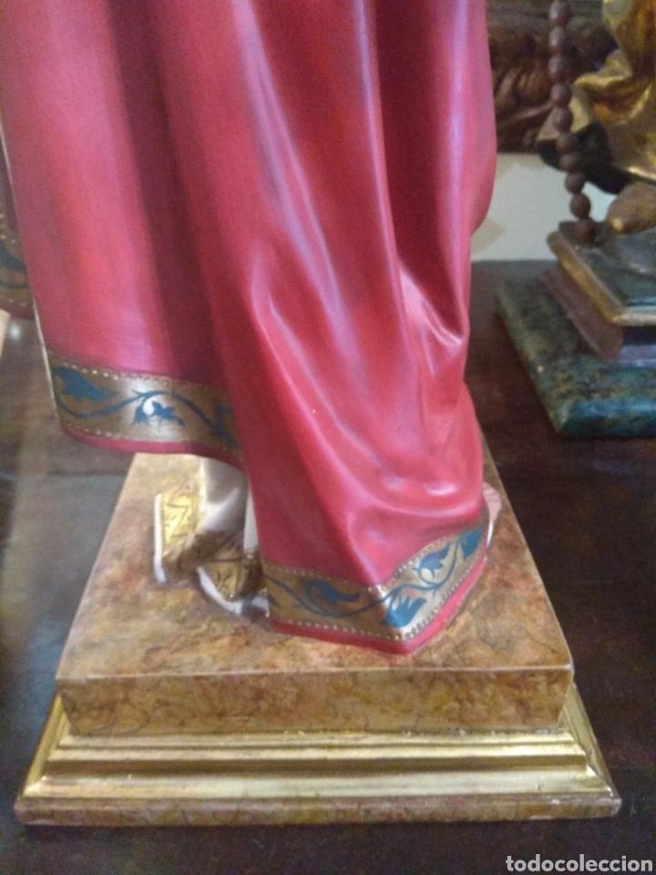 Arte: Escultura Sagrado Corazón de Jesús XIX Madera - Foto 17 - 147229958