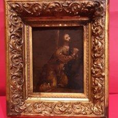 Arte: LA ORACIÓN EN EL HUERTO. ÓLEO SOBRE COBRE, SIGLO XVII. CON MARCO ANTIGUO.. Lote 212072785