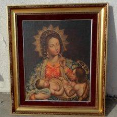 Arte: CUADRO AL OLEO DE VIRGEN CON NIÑO JESUS Y SAN JUANILLO,, ESTILO COLONIAL. Lote 212173642