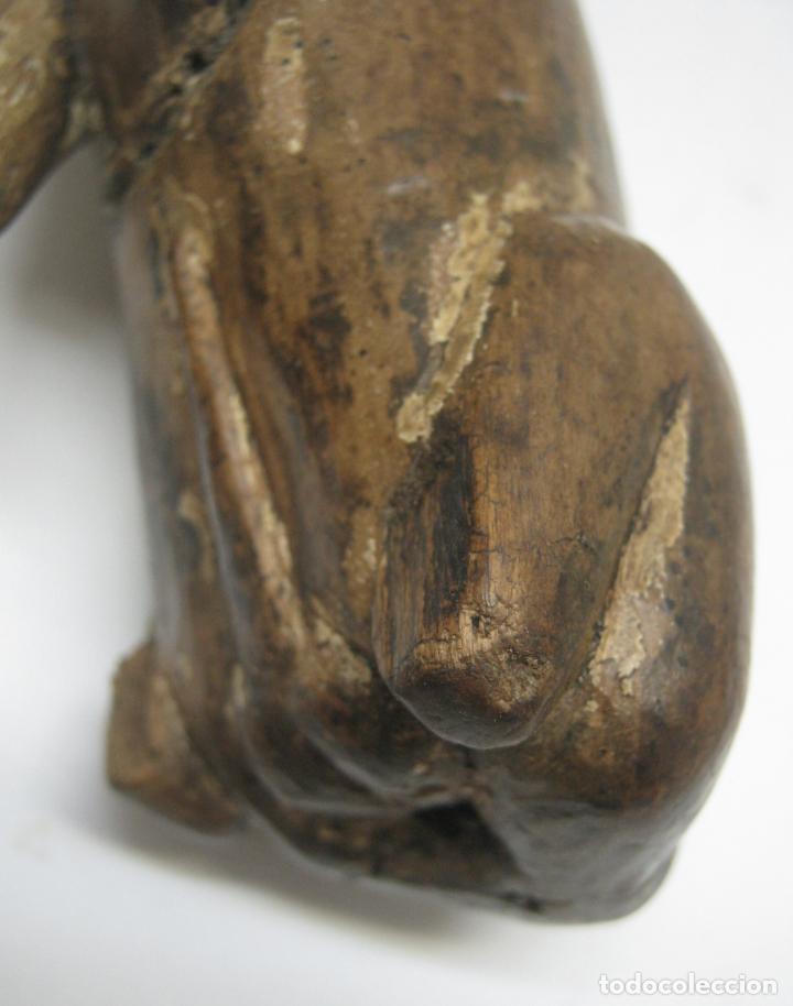 Arte: Perro San Roque . Talla madera de nogal . Escuela Vallisoletana . GUINEFORT MELAMPO Ó GOZQUE - Foto 9 - 212257115