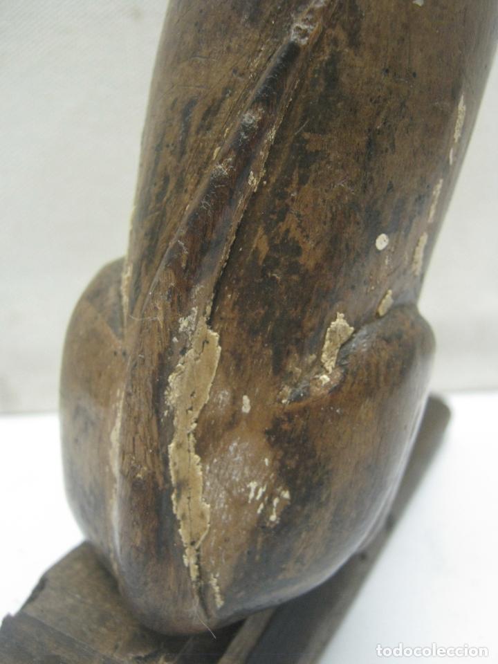 Arte: Perro San Roque . Talla madera de nogal . Escuela Vallisoletana . GUINEFORT MELAMPO Ó GOZQUE - Foto 12 - 212257115