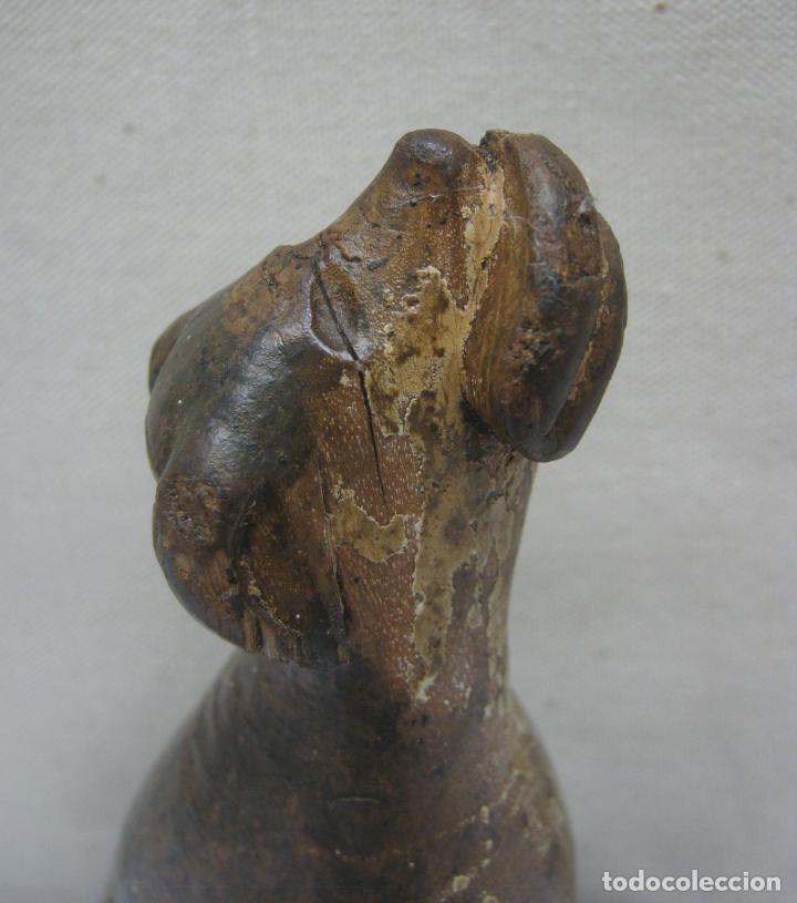PERRO SAN ROQUE . TALLA MADERA DE NOGAL . ESCUELA VALLISOLETANA . GUINEFORT MELAMPO Ó GOZQUE (Arte - Arte Religioso - Escultura)