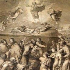 Arte: LA ASCENSIÓN. GRABADO. DE UN ORIGINAL DE RAFAEL. GRABADO POR MORGHEN. FLORENCIA. 1811. Lote 212369781