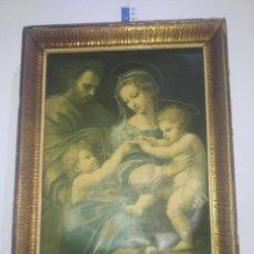 Arte: CUADRO LITOGRAFIA NIÑO JESUS JOSE VIRGEN. Lote 212438868