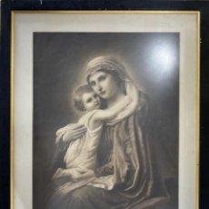 Arte: LAMINA DE LA VIRGEN ENMARCADA. EDITORES MANITZKI & Cº BERLIN. FIEDENAU.. Lote 212492542