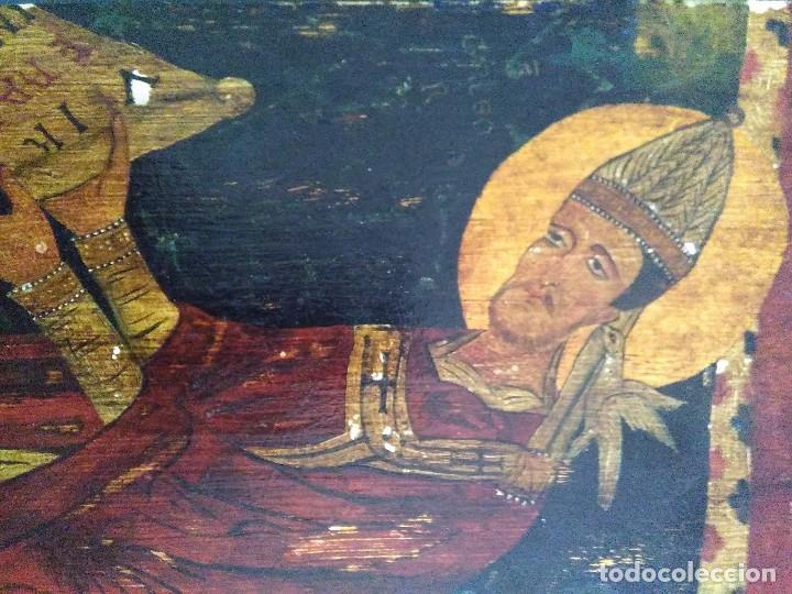 Arte: Retablo pintura estilo románico - Foto 2 - 212531821