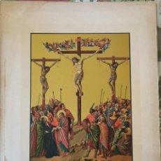 Arte: SIGLO XIX, CROMOLITOGRAFIA, JESUS CRUCIFICADO ENTRE DOS LADRONES, 20X30 CMS. Lote 212547745