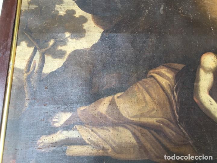 Arte: (M.R/C) ANTIGUA PINTURA , LIENZO AL OLEO S. XVIII - SANTA MARIA MAGDALENA CON SU MARCO DE EPOCA - Foto 7 - 212617561