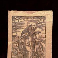 Arte: GOIG /GOZO - SANT ANTONI ABAT - GRABADO - PRINCIPIOS SIGLO XIX - 22 X 31.50 CM. Lote 212675195