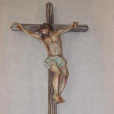 Arte: ANTIGUA FIGURA ESTUCO JESUCRISTO CRUCIFIJO OLOT. Lote 212696843