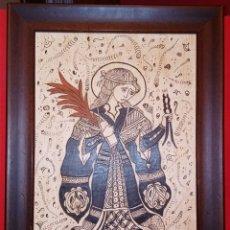 Arte: SOCARRAT VALENCIANO - SANTA APOLONIA PATRONA DE LOS DENTISTAS - ARTE GOTICO - PATERNA - FIRMADO. Lote 212927247