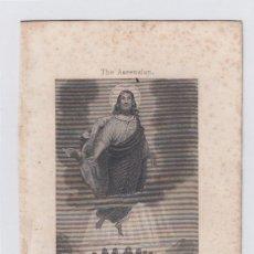 Arte: LA ASCENSIÓN. PEQUEÑO GRABADO RELIGIOSO. TURGIS. PARIS.TAMAÑO: 13 X 8,5 CTMS.. Lote 212937292