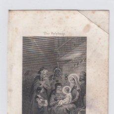 Arte: LA EPIFANIA. PEQUEÑO GRABADO RELIGIOSO. TURGIS. PARIS.TAMAÑO:13 X 8,5 CTMS.. Lote 212937770