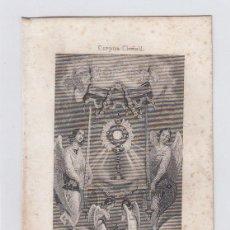 Arte: CORPUS CHRISTI. PEQUEÑO GRABADO RELIGIOSO. TURGIS. PARIS.TAMAÑO:13 X 8,5 CTMS.. Lote 212937817