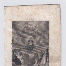 Arte: DIA DE TODOS LOS SANTOS.. PEQUEÑO GRABADO RELIGIOSO. TURGIS. PARIS.TAMAÑO:13 X 8,5 CTMS.. Lote 212937885