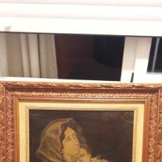 "Arte: KITSCH ""ECCE HOMO"" COPIA ÓLEO V. DEL ROSARIO S.XVIII. Lote 212942262"
