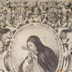 Arte: VERA EFFIGIES SERVAE DEI SOR FRANCISCAE DHOROTHEAE. GRABADO. CORNELIS SCHUTT. FLANDES. CIRCA 1674. Lote 212992258