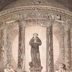Arte: SAN ANTONIO DE PADUA. GRABADO SOBRE PAPEL. F. ZULIANI. ITALIA. SIGLO XVIII. Lote 213081693