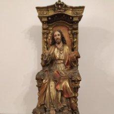 Arte: SAGRADO CORAZÓN DE JESÚS ENTRINOZADO 63 CM ARTE SACRO OLOT SANTAMARÍA DEL CLARET.. Lote 213104945