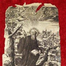 Arte: SAN BENITO, SOL DE OCCIDENTE. GRABADO SOBRE PAPEL. HERMAN PANNEELS. ESPAÑA. SIGLO XVII. Lote 213151321