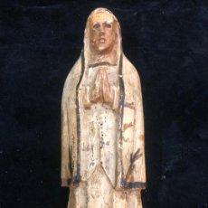 Arte: TALLA DE VIRGEN FINAL SIGLO XVIII - MEDIDA 22,5 CM - RELIGIOSO. Lote 213305547