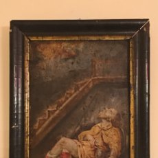 Arte: ANTIGUA PINTURA RELIGIOSA - ÓLEO ANTIGUO SOBRE COBRE - SAN ALEJO - SIGLO XVII-XVIII. Lote 213367241