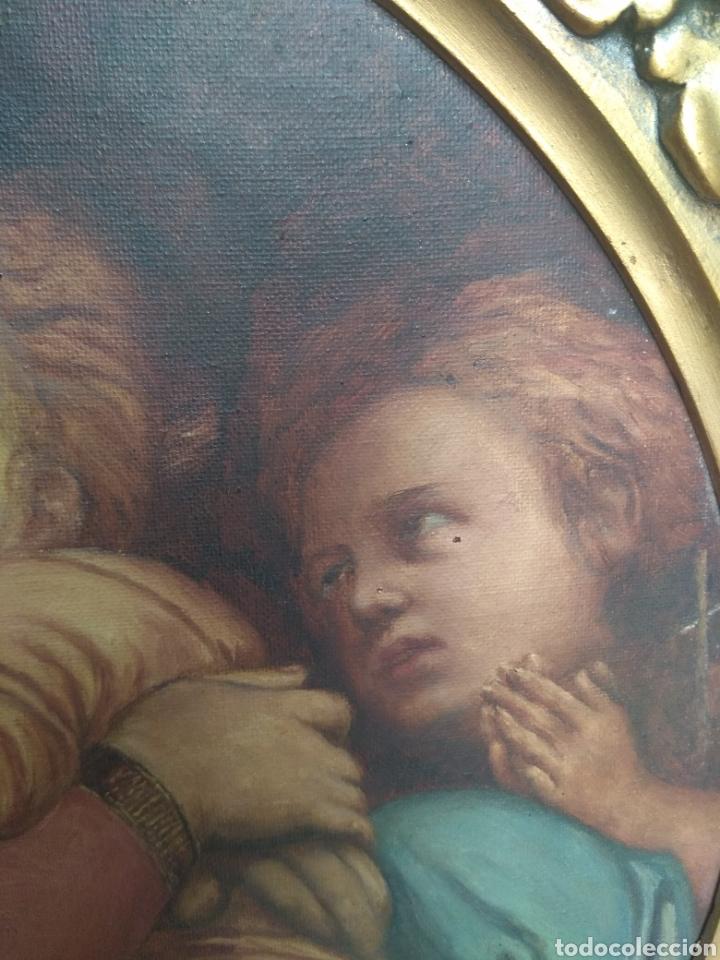 Arte: Óleo Sobre Lienzo Virgen de la Silla - Foto 8 - 213391132