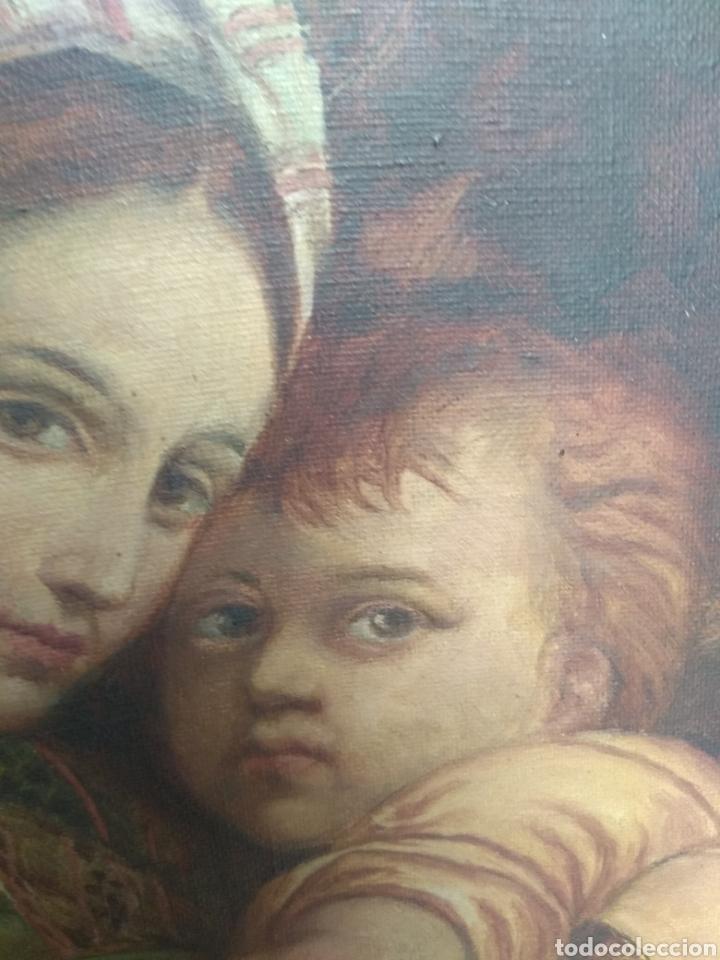 Arte: Óleo Sobre Lienzo Virgen de la Silla - Foto 9 - 213391132