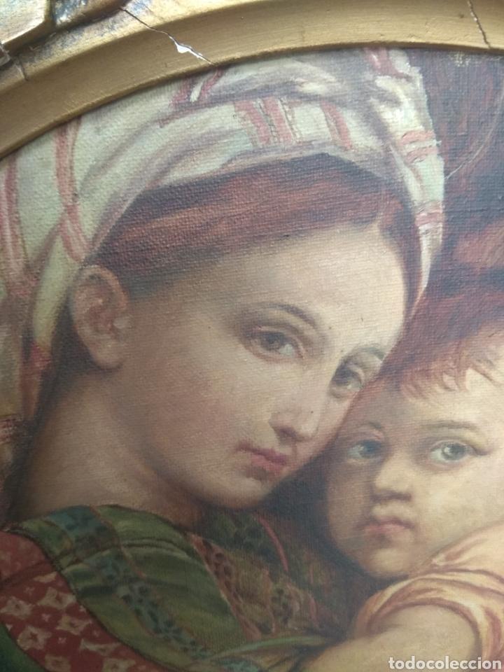 Arte: Óleo Sobre Lienzo Virgen de la Silla - Foto 10 - 213391132