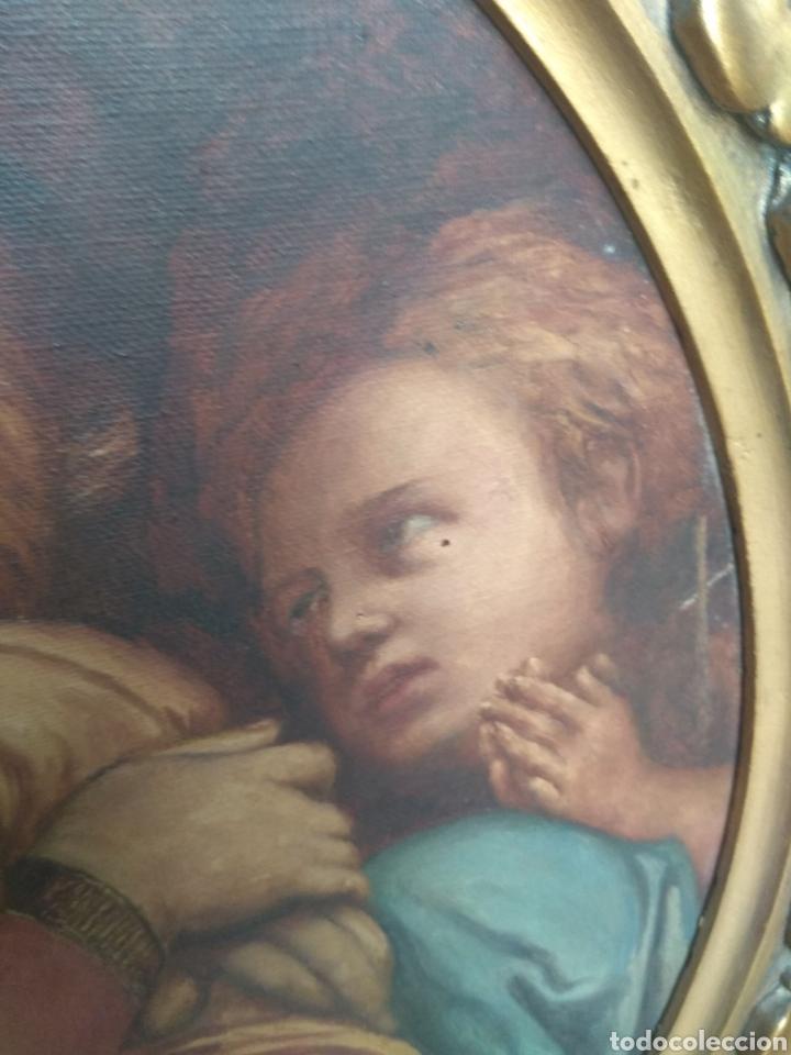 Arte: Óleo Sobre Lienzo Virgen de la Silla - Foto 14 - 213391132