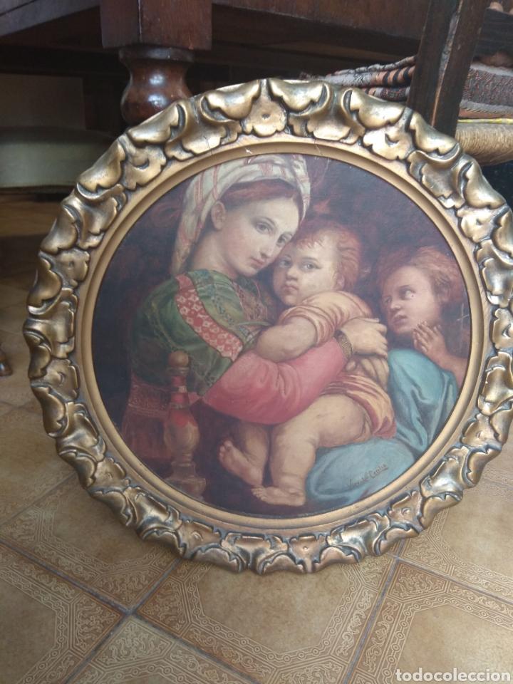 Arte: Óleo Sobre Lienzo Virgen de la Silla - Foto 24 - 213391132